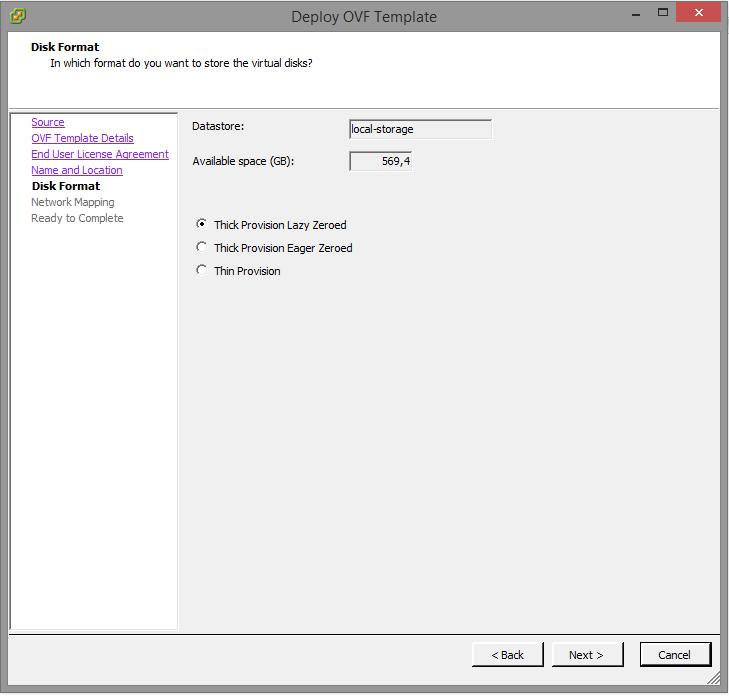 vSRX - Disk Settings